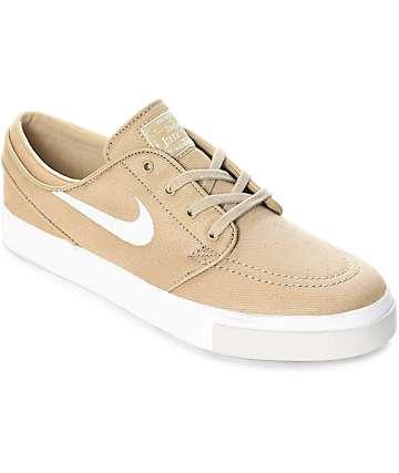 Nike SB Janoski zapatos de skate en colores hongo y crema