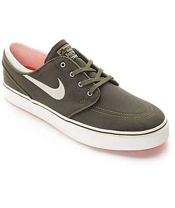 Nike SB Janoski zapatos de skate en verde oscuro y blanco