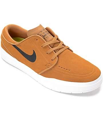 Nike SB Joniskis Hiperreal zapatos de skate en blanco y color ocre