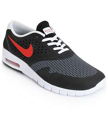 Nike SB Koston 2 Max Black, Red & Cool Grey Shoes