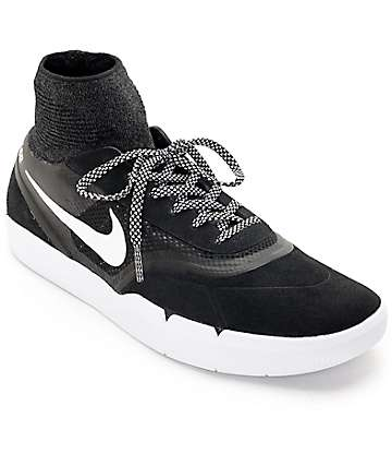 Nike SB Koston 3 Hyperfeel Black & White Skate Shoes
