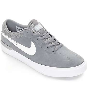 Nike SB Koston Hypervulc zapatos de skate en blanco y gris