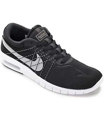 Nike SB Koston Max zapatos en blanco, negro y gris