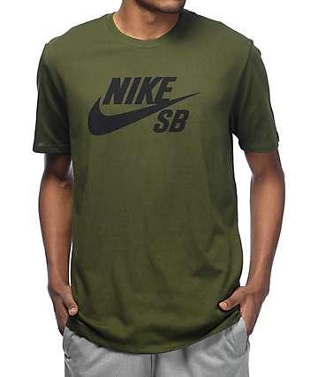 Nike SB Logo camiseta verde
