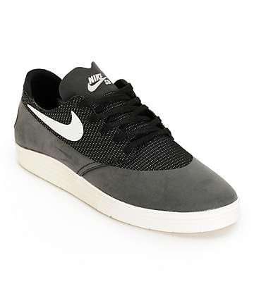 Nike SB Lunar Oneshot Black & Ivory Skate Shoes
