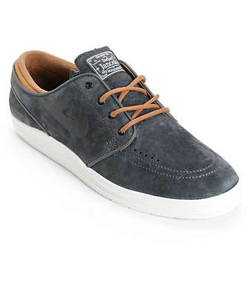 Nike SB Lunar Stefan Janoski Anthracite & Ale Brown Skate Shoes