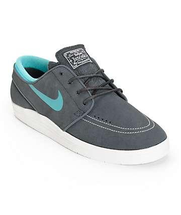 Nike SB Lunar Stefan Janoski Anthracite & Cactus Skate Shoes