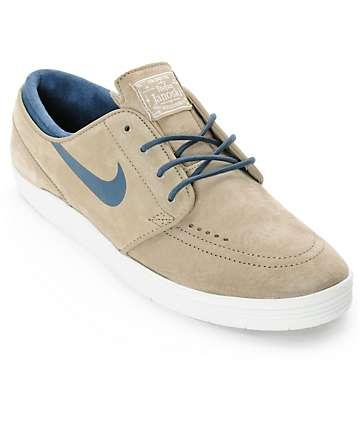 Nike SB Lunar Stefan Janoski Bamboo & Squadron Blue Skate Shoes