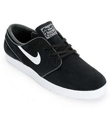Nike SB Lunar Stefan Janoski Black & White Skate Shoes