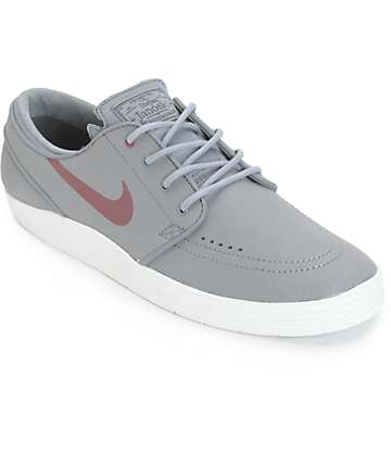 Nike SB Lunar Stefan Janoski Cool Grey & Villain Red Skate Shoes