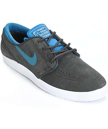 Nike SB Lunar Stefan Janoski Pewter & Blue Skate Shoes