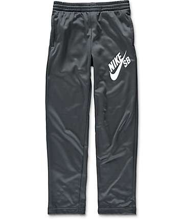 Nike SB Open Bottom Logo Dark Grey Boys Pants