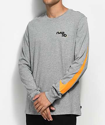 Nike SB Outdoor camiseta gris de manga larga