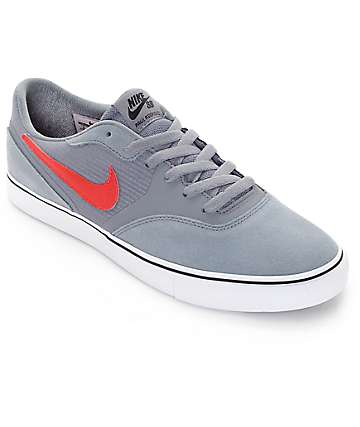 Nike SB Paul Rodriguez 9 Clear Grey, Dark Obsidian, Summit White & University Red VR Skate Shoes