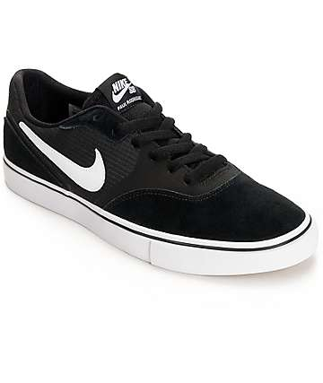 Nike SB Paul Rodriguez 9 VR Black & White Skate Shoes