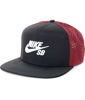 Nike SB Perforated Black & Red Trucker Hat