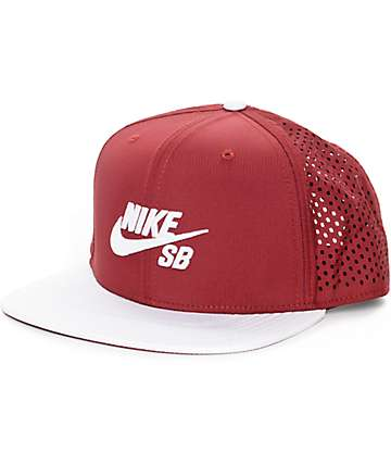Nike SB Performance Burgundy & White Trucker Hat