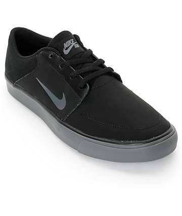 Nike SB Portmore Black & Grey Skate Shoes