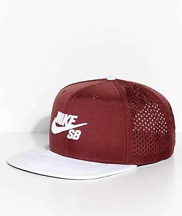 Nike SB Pro Team AeroBill Dri-Fit Burgundy & White Snapback Hat