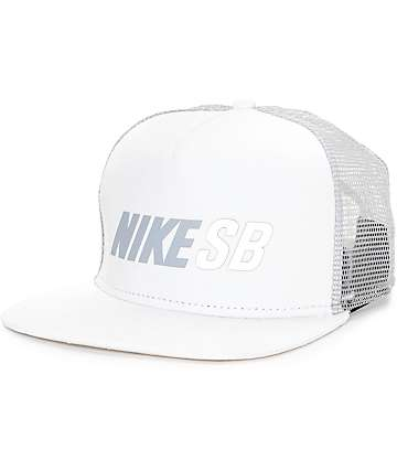 Nike SB Reflect White Trucker Hat