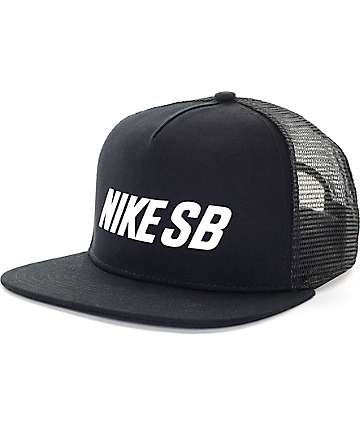 Nike SB Reflective Black Trucker Hat