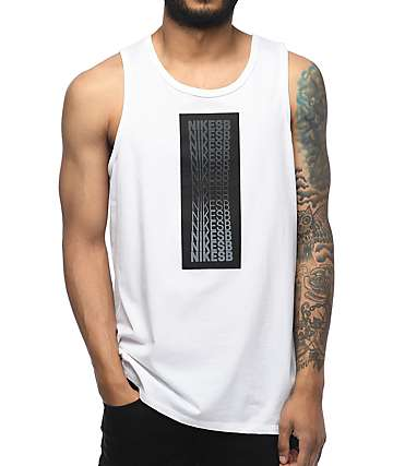Nike SB Repeat Line White Tank Top