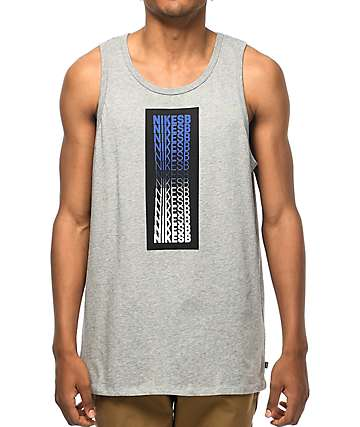 Nike SB Repeat Line camiseta sin mangas en gris