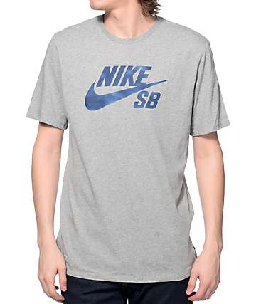 Nike SB Shadow Icon Heather Grey Dri-Fit T-Shirt