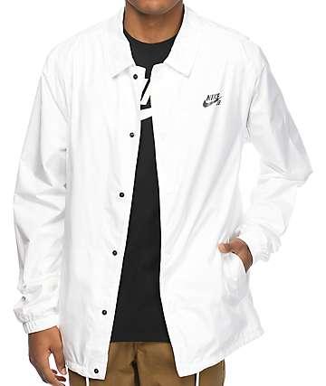 Nike SB Shield chaqueta entrenador en blanco