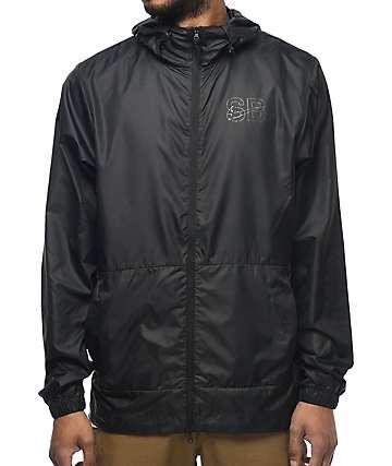 Nike SB Steele chaqueta cortavientos empacable en negro