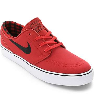 Nike SB Stefan Janoski Gym Red, Black & White Skate Shoes
