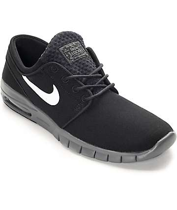 Nike SB Stefan Janoski Max Black, White & Dark Grey Shoes