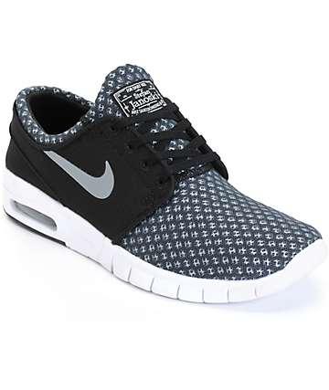 Nike SB Stefan Janoski Max Black & Cool Grey Mesh  Shoes