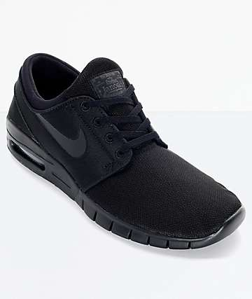 Nike SB Stefan Janoski Max Black and Anthracite Mesh Shoes