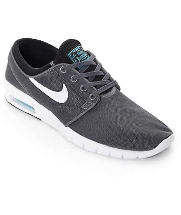 Nike SB Stefan Janoski Max Dark Grey, White, & Gamma Shoes