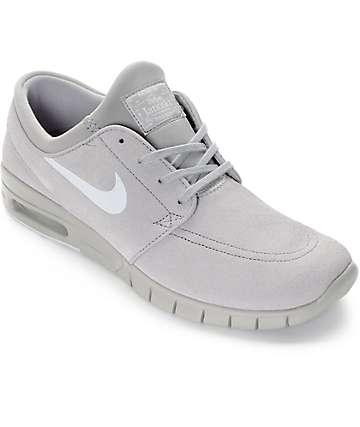Nike SB Stefan Janoski Max Matte Silver & Pure Platinum Grey Shoes