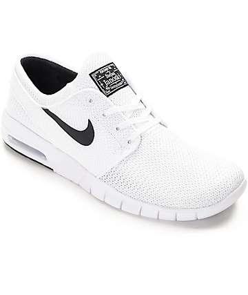 Nike SB Stefan Janoski Max White & White Shoes