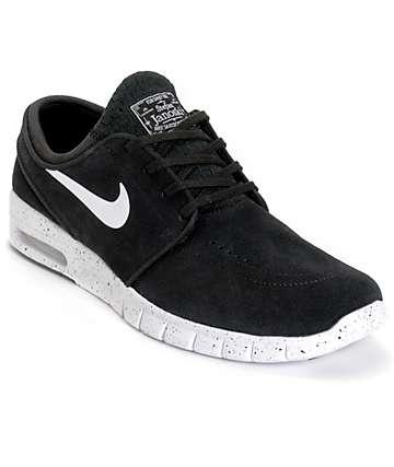 Nike SB Stefan Janoski Max zapatos de ante en blanco y negro