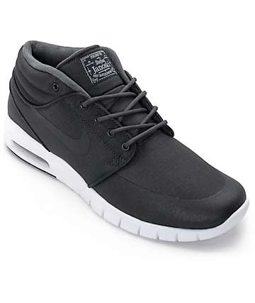 Nike SB Stefan Janoski Mid Anthracite Black & White Shoes