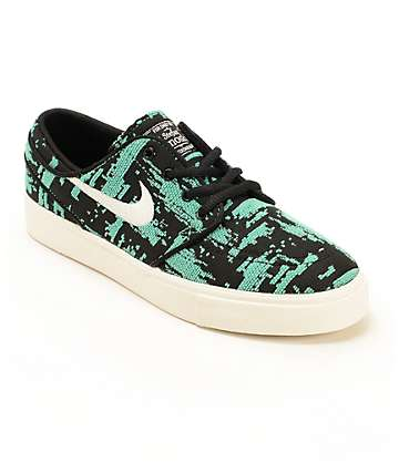 Nike SB Stefan Janoski Mint Boys Skate Shoes
