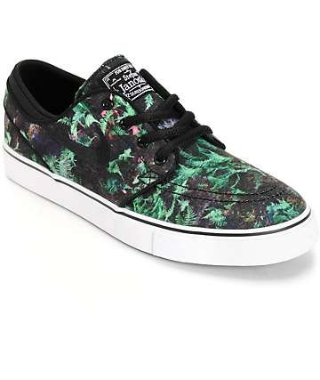 Nike SB Stefan Janoski PR Gorge Green & Black Boys Skate Shoes