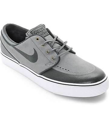 Nike SB Stefan Janoski PR SE Cool Grey & Anthracite Skate Shoes