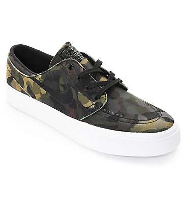 Nike SB Stefan Janoski Premium High Tape Camo & White Skate Shoes