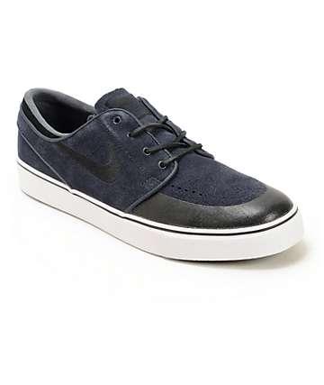 Nike SB Stefan Janoski Premium SE Obsidian & Black Skate Shoes