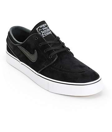 Nike SB Stefan Janoski SE Black & White Skate Shoes