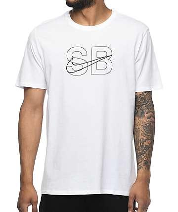 Nike SB Thin Lines camiseta blanca