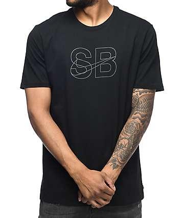 Nike SB Thin Lines camiseta negra