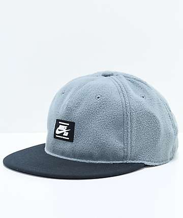 Nike SB Warmth True Grey & Black Strapback Hat