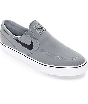 Nike SB Zoom Janoski Cool Grey Canvas Slip On Shoes