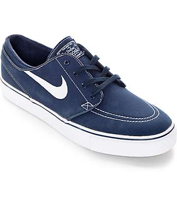 Nike SB Zoom Janoski Obsidian Blue Canvas Skate Shoes